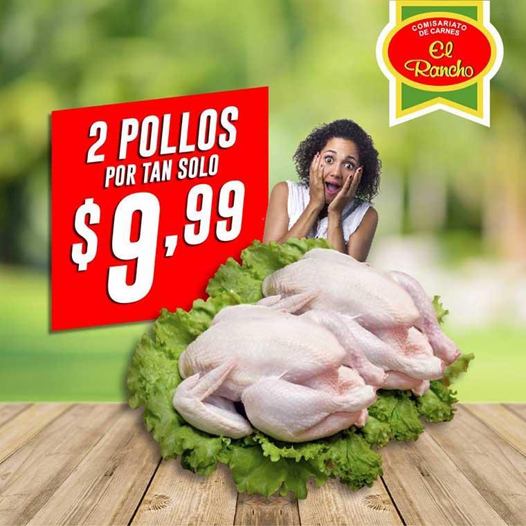 2 pollos por 9.99 guayaquil