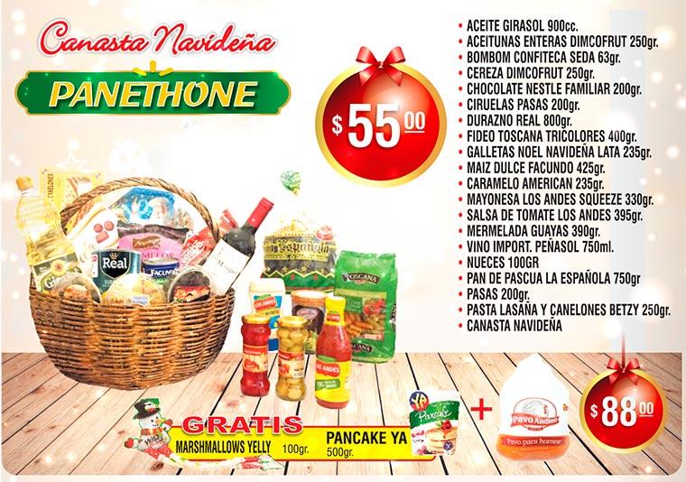 Canatas Navideña Panethone